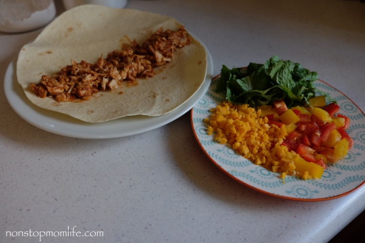 Easy BBQ chicken wrap