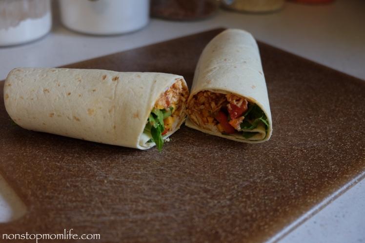 Easy Chicken wrap